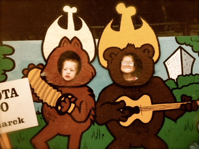 Danny and Rachel at the Dakota Zoo, 1991